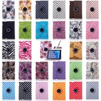 Wholesale Apple Ipad Covers Polka Dot - Polka Dot Flower 360 Rotating Magnetic PU Leather Stand Case Smart Cover For New iPad 2017 9.7 Pro 10.5 2 3 4 5 6 Air Mini Mini2 Mini3