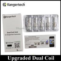 Wholesale Kangertech Replacement Coils - Original Kanger Upgraded Dual Coil Replacement 0.8 1.0 1.2 1.5 1.8ohm Coil Head fit Authentic Kangertech Aerotank Genitank EMOW Mega