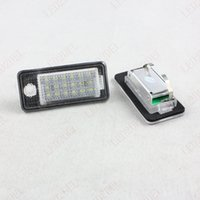 Canbus White Error Free 18LED Plaques d'immatriculation pour Audi A3 S3 A4 S4 B6 B7 A5 S5 B8 A6 S6 A8 S8 Q7 10pcs (5sets)