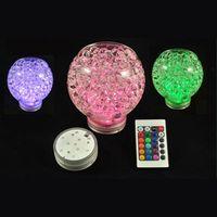 base de luz de jarrón sumergible led al por mayor-RGB Multi colores Control remoto 16 colores Sumergible luz LED, base de jarrones LED luz para la celebración de la boda