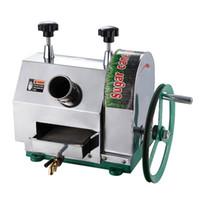 maquina de azucar al por mayor-Mejor venta de alta eficiencia y buena calidad alimentos sanitarios acero inoxidable manual operan máquina exprimidor de caña de azúcar con envío gratis