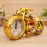 Wholesale Desk Ornament - Retail Retro Motorcycle Alarm clock Fashion Desk Table Clocks Home Furnishing Decor Gifts Handicraft Ornaments Decoration Quartz Alarm clock