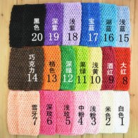 Wholesale Crochet Headbands Tube Tops - 15cm X 15cm Baby Gir 6inch Crochet Tutu Tube Tops Chest Wrap Wide Crochet headbands 20 Color