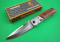 Wholesale Oem Browning Folding Hunting Knife - Best folding survival knife OEM Browning DA50 pocket camping hunting knife outdoor tool 5Cr15Mov 57HRC blade drop shipping