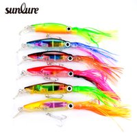 Wholesale Clear Hard Bait - New Sleeve-Fish Fishing lure 14cm 40g 6 Colors Clear body light reflection Aluminum-finish and pearl-finish 6pc lot