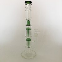 árbol percolador vidrio bong verde al por mayor-