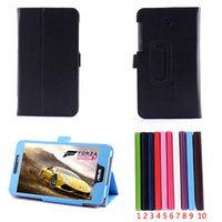 Wholesale Cover For Fonepad - HOT SALE Flip Litchi Grain Line PU Leather Stand Back Cover Case For Asus FonePad 7 FE375CG