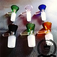 Wholesale Wholesale Stainless Steel Dishes - Bubbler Banger Nectar Collector glass pipe Tips with Titanium and Quartz Nail Dabber Dish 10 mm 14mm 18mm wholesale pure glass bongs 14mm