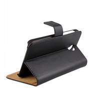 Wholesale Chinese Genuine Mobile - Genuine Wallet Leather Case for Alcatel One Touch Idol 2 OT6037K Mobile Phone Skin Cover with Credit Card Cash Holder Slot 6037Y 6037B