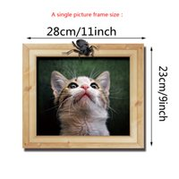Wholesale Photo Frames For Walls - 3 in 1 Cute Cat Photo Frame Wall Sticker for kids Room DIY Home Decorations Living Room Wall Art