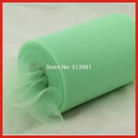 Mint Green Tulle Roll Spool 6