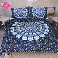 Wholesale Peacock Feathers Bedding - muchun Brand Christmas Bedding Sets Blue Peacock Tail Feather Active Printing And Dyeing 3 pcs Comforter Duvet Cover Home Textiles