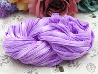 Wholesale-Großhandels24pcs / lot Light Purple + Weiß Zwei-Ton Nylon Silk Stockings Blume Schmetterling handgefertigte Materialien DIY Zubehör