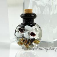 Wholesale Empty Glass Necklace Vials - small glass bottles for pendant necklaces empty vial necklaceminiature glass jars glass vial for pendant necklace