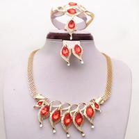 18k gelbgold saphir halskette großhandel-
