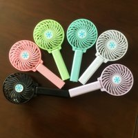 Wholesale Design Mini Fan - Creative Foldable Fans USB Charge Handheld Mini Fan For Child Desktop LED Lighting Design Fanner Factory Direct 8rz B R