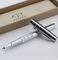 Wholesale Calligraphy Pen Writing - Free Shipping High Quality Business Executive Fast Writing Parker Brand Ballpoint Pen Parker IM Metal Pen