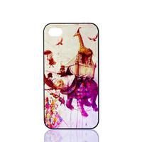 Wholesale Elephant Design Cases - Wholesale Giraffe Ride an Elephant Design Hard Plastic Phone Case Cover For iPhone 4 4S 5 5S 5C 6
