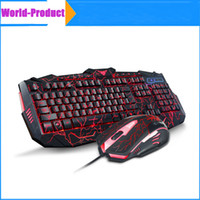 Novo jogo de teclado de mouse Combos Gamer LED USB Wired Game Keyboard para computador Mac dota 2 lol cs 010248