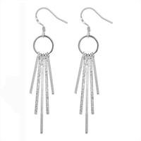 Wholesale Fashion Earrings Bling - Fashion 925 Silver Earrings Jewelry Bling 925 Silver Sticks Design Grace Girl's Drop Earrings For Women Gift Earrings Jewelry Hot Sale