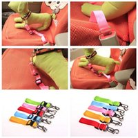 Wholesale Leather Leashes Wholesale - 30pcs 7 color Adjustable pet dog car seat belt pet safety LEADS Leash Clip
