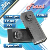 grabador de video avi al por mayor-S918 botón mini cámara 720 * 480 30fps botón estenopeica Cámara portátil Mini videocámara DVR Audio Video grabadora AVI