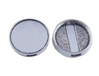 Wholesale 20PCS Antiqued silver mm Cabochon Settings for Ribbon