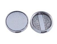 paramètres de cabochon argent antique achat en gros de-20PCS Argent antique 21mm Cabochon Paramètres pour ruban # 91112