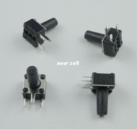 100Pcs 6x6x6mm Right Angle 2 Pin Momentary Tactile Tact Push Button Switch