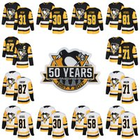 Donne Pittsburgh Penguins 50th Patch 2017-2018 23 Scott Wilson 25 Tom Sestito 28 Ian Cole 34 Tom Kuhnhackl 43 Conor Sheary Hockey Jerseys