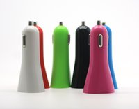 Wholesale electronics gadgets online - Top Quality Dual Mini Universal USB Car Charger Adapter Chager for Mobile Phone iPhone iPod Mp3 MP4 Glaxy Note Electronic Gadgets Equipment