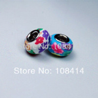 Wholesale Fimo Accessories - 20PCS Lot Mixed Color 15*9mm DIY Bracelet Beads in Fimo Polymer Clay Accessories fit for European Pandora Bracelet and Necklace