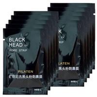 gözenek temizleyici maske toptan satış-Yüksek kalite 1000 adet PILATEN Yüz Mineraller Conk Burun Siyah Nokta Remover Maske Gözenek Temizleyici Burun Siyah Kafa EX Gözenek Şeridi