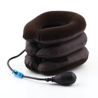 Wholesale Cervical Shoulder Pain - Hot 1pc High Quality Air Cervical Neck Traction Soft Brace Device Unit for Headache Head Back Shoulder Neck Pain Health Care