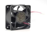 ventilateur 12v 2wire achat en gros de-D60SH-12 Livraison Gratuite En Gros Yate Loon 6025 60 * 60 * 25 mm DC 12 V 0.18A 2 Wire De Refroidissement Ventilateur