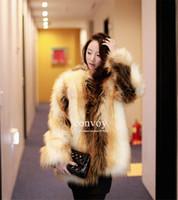 Wholesale Girls Fox Fur Coats - Fashion Womens Girls Winter Artificial Faux Fox Fur Long Sleeve Winter Coat Warm Outwear Wrap Faux Fur coat For Ladies S-2XL Free Ship WT15
