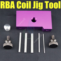 Wholesale micro coil jig tool resale online - newest coil jig tool Portable Coil tools Heating coil RDA with posts acrylic Stainless steel Micro Coil Builder Tool