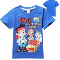 Wholesale T Shirts Wholesale Design Print - 2014 New Summer Children's T-shirt cotton pirate captain Printing design Children leisure T-shirt child clothing C001