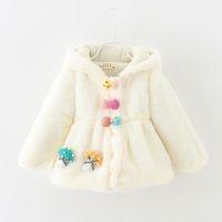 Wholesale Mushroom Jacket - Wholesale-Autumn winter fashion baby girl coat 6-24months mushroom jacket newborn cute clothing GC151 Baby coat new arrival
