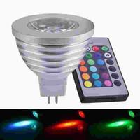 Wholesale Mr16 Bulb Life - MR16 4W RGB LED Spotlight 8-24V Long Life Span LED RGB Lamp Bulb Light for Decoration with IR Retome 16 Beautiful Color