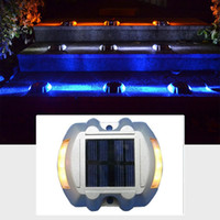 Wholesale indoor step lights online - Solar Led Pathway Marker Road Stud Light Dock Driveway Path Warning Lights Solar Dock Lights for Deck Driveway Garden Walkway Sidewalk Steps