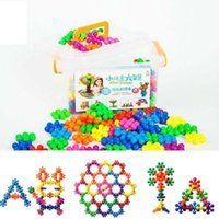 Wholesale plastic blocks for sale resale online - New Plum Flower Puzzle DIY Children s Educational Toys Puzzle Toys Plastic Spell Inserted Minifig Bricks Building Blocks for Sale