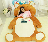 Wholesale Giant Plush Lovely Bear - Dorimytrader 200cm X 140cm Bear Beanbag Soft Plush Lovely Giant Rilakkuma Bed Mattress Sofa Tatami Nice Gift For Kids Free Shipping DY60362