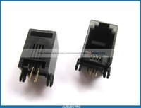 Wholesale Industrial Networks - 50 Pcs 52 4P4C Modular Network PCB Jack Connector Side Entry Without Flange