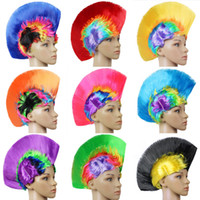 Wholesale Synthetic Wigs For Men - Women Men kids Mohawk Synthetic Hair Fashion Mohican Hairstyle Costume Cosplay Punk Party Wigs for Halloween Christmas IC865