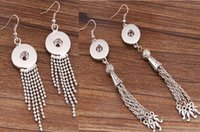 Wholesale Trend For Chain Jewelry - 2015 NOOSA Ginger Snaps Earring Trend Jewelry Interchangeable DIY Hooks Earring with Beads Fringes Chains Decoration 2 styles for Choices