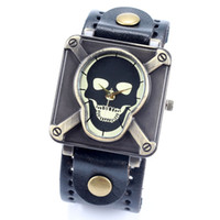 Wholesale Watches Skulls For Women - skull wrist watch for men women ladies china post air mail