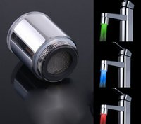 Wholesale LED Dragon faucet Temperature Sensor Kitchen Bathroom Led Tap Light No need Battery Water Faucet Glow Shower Stream