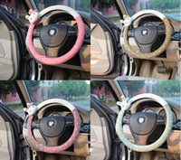 Wholesale Steering Wheel Wraps - Cute Lady Plush Steering Wheel Covers Cute Gilrs Steering Wheel Wrap Dish Sets MOQ1PC Free Shipping