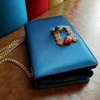 Wholesale Purse Candy Clutch - Luxurious Candy Color Velvet Women Evening Bags Rhinestones Peacock Metal Evening Bags Day Clutches Purse For Wedding Party Bag